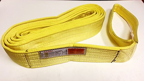 Trident Sling / Tow Strap. NEE2-904X20TS. This (2-PLY) Type3 Flat E/E Heavy Duty Nylon / Polyester Web Sling Is Ideal For All Lifting, Rigging, Towing, Recovery and Tie-Down Needs! (4