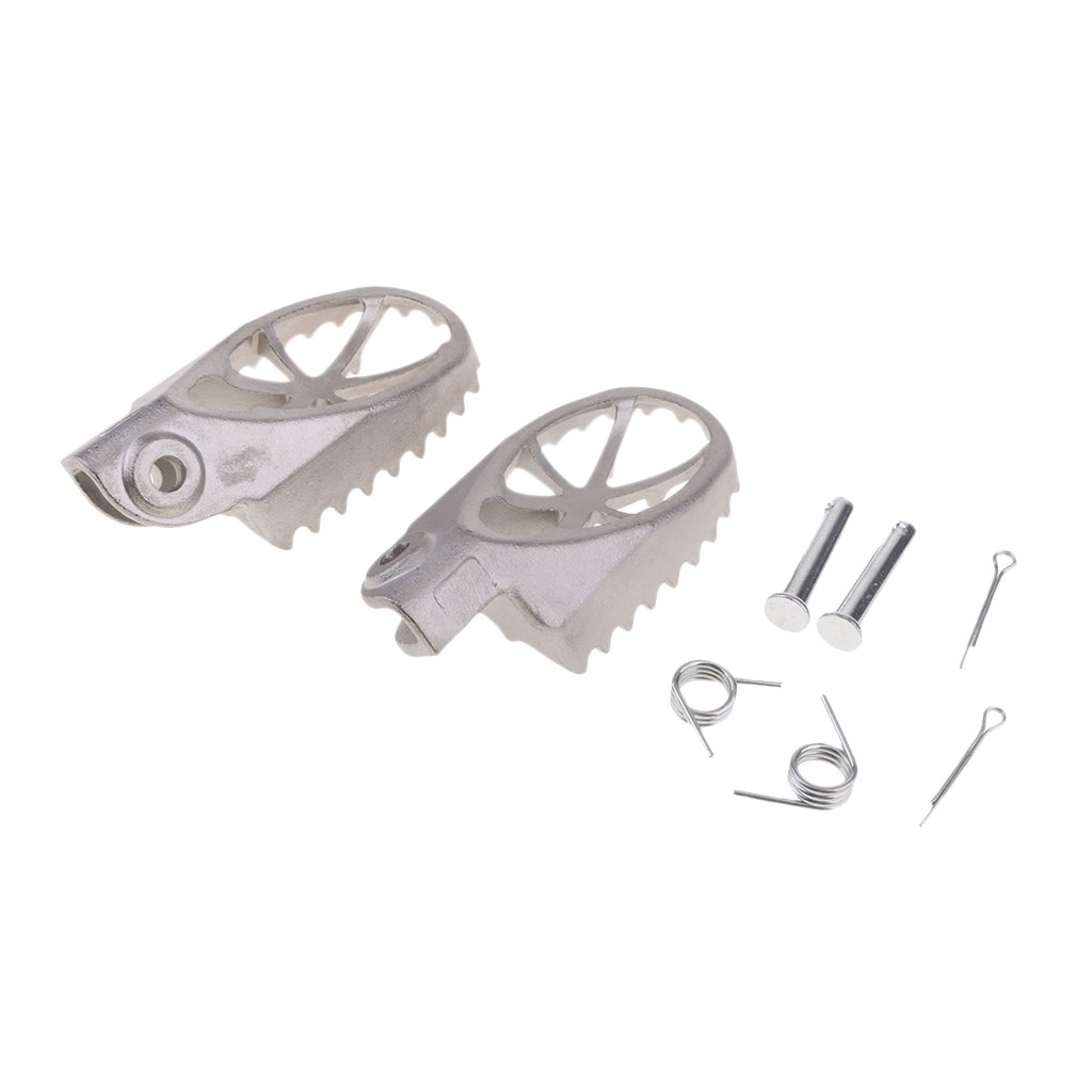 Shiwaki Foot Pegs Footrest For Yamaha PW 50 80 TW200 Dirt Bike Motorcycle