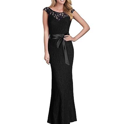 ac35d80c1 Vestido de mujer Sexy Señoras Floral Cordón La longitud del piso Boda Dama  de honor Elegante ...
