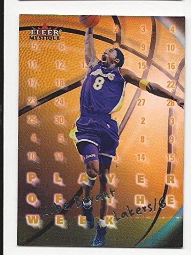 2000-01 Fleer Mystique Player of the Week Kobe Bryant #PW15