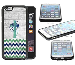 Chevron Cross And Vine Blue Green Gradient Rubber Silicone pc Cell Phone Case Apple iPhone 6