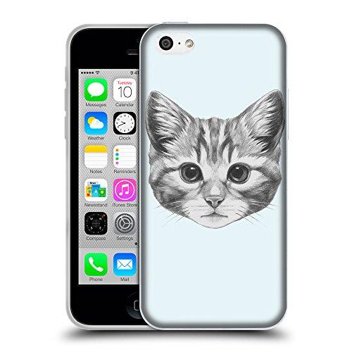 GoGoMobile Coque de Protection TPU Silicone Case pour // Q05140619 Dessin chaton Bulles // Apple iPhone 5C