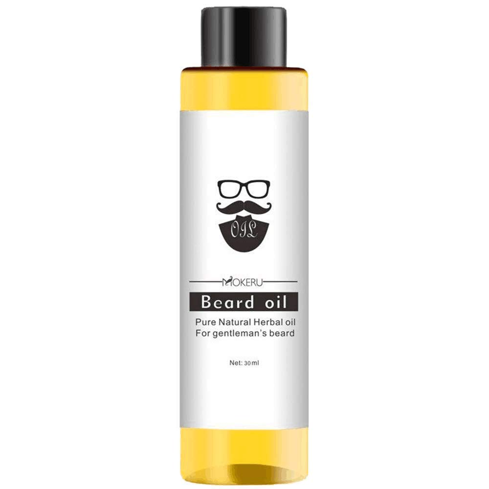 Beard Growth Oil, Hair Growth Oil Beard Oil Enhancer Facial Nutrition Moustache Grow Beard Shaping Hair Growth Pure Natural Nutrients Skin Cleansing Vitamins Grapefruit Seed Oil 30ml (Y1)