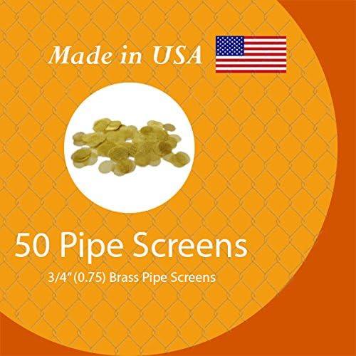 Grimm SUPA 50 Brass Pipe Screens - 3/4 (.75) Pipe Screen Filters