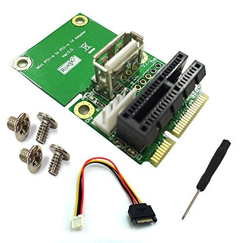 Mini Pci Modem (PCI-E 1X to Half/Full Mini PCI-E Adapter)