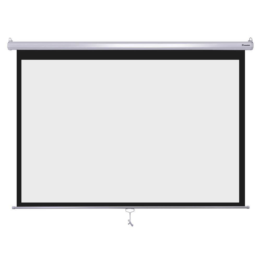New Leaf 100' 16:9 Manual Pull Down Projector Screen Wall