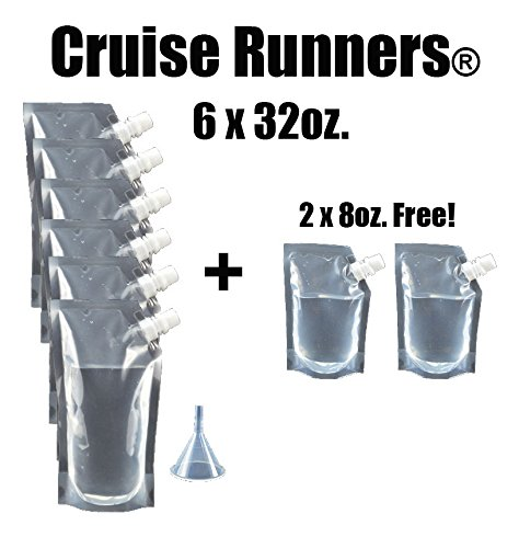 Cruise Runners Brand Ship Kit Flask 8 Pack Gift 6x32 Oz