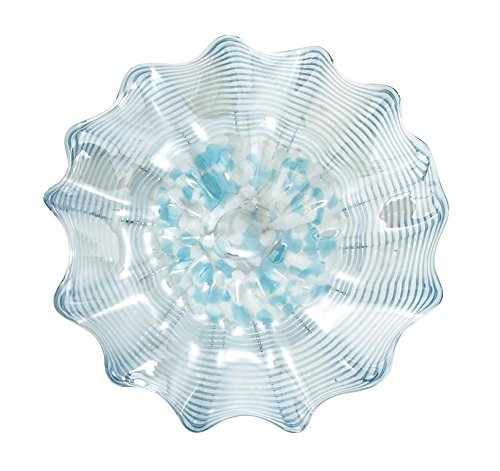 Deco 79 53061 Chic Hand Made Blown Glass Plate