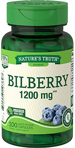 Nature's Truth New Bilberry 1200 mg 100 Capsule