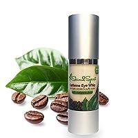Skin2Spirit Caffeine Eye Whip - Cream - Natural - Made with Organic Ingredients - Great for Puffy Eyes & Dark Circles - with Hyaluronic Acid - Large 1 OZ Bottle from Skin2Spirit