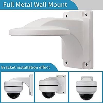 Wall Mount Bracket,LEFTEK Full Metal Bracket Outdoor Indoor CCTV Stand Accessory For LEFTEK Dome PTZ Camera from LEFTEK
