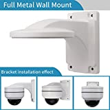Wall Mount Bracket,LEFTEK Full Metal Bracket Outdoor Indoor CCTV Stand Accessory For LEFTEK Dome PTZ Camera