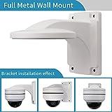 Wall Mount Bracket,LEFTEK Full Metal Bracket Outdoor Indoor CCTV Stand Accessory For LEFTEK Dome PTZ Camera