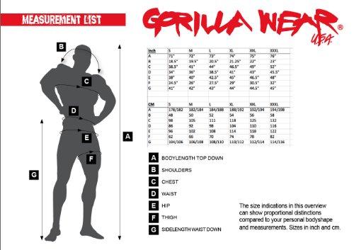 Gorilla Wear Logo Meshpants Blue blau - Bodybuilding und Fitness Hose für Herren
