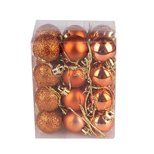 Kemilove 24pcs Christmas Ball Ornaments Shatterproof Christmas Decorations Tree Balls Small for Holiday Wedding Party Decoration, Tree Ornaments (1.18