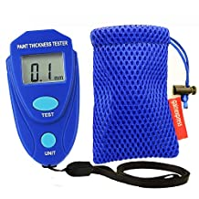 GainExpress Portable Mini Digital Coating Paint Thickness Gauge Meter Tester Car Painting with Pouch
