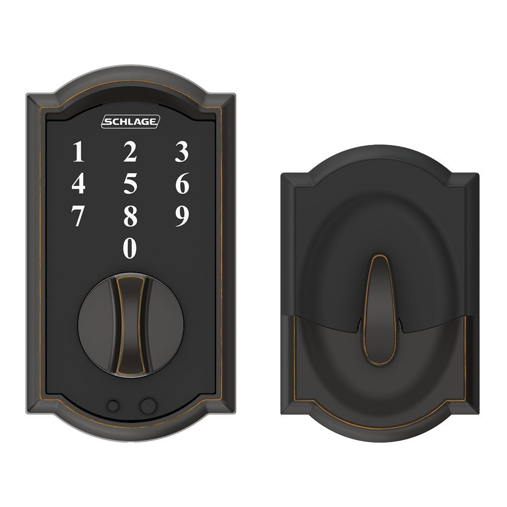schlage electronic locks. Schlage Touch Camelot Deadbolt (Aged Bronze) BE375 CAM 716 - Amazon.com Electronic Locks