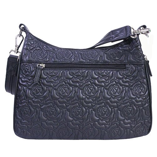 (Gun Toten Mamas Embroidered Lambskin Hobo Bag, Black, One Size )