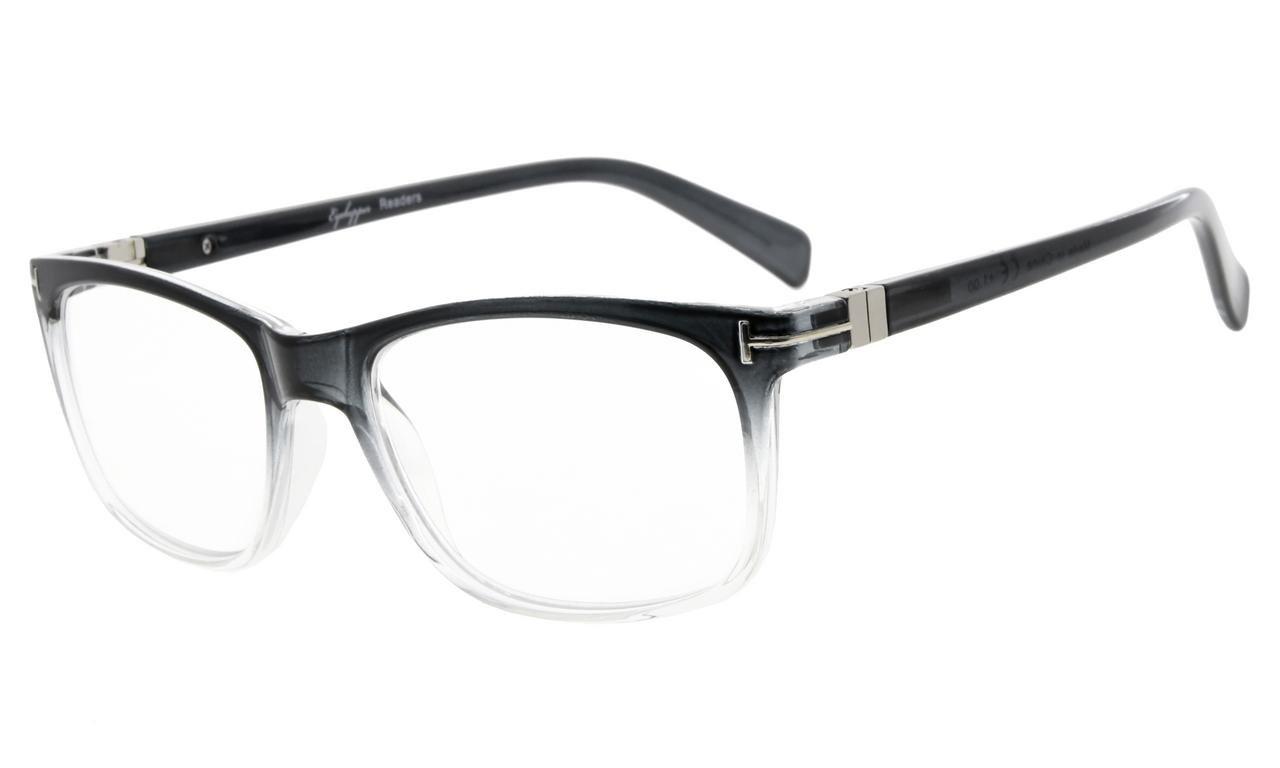Eyekepper Reading Glasses Fashion Reading Eyeglasses Men Women (Grey, 1.75)