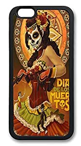 iPhone 6 Plus Cases, Day Of The Dead Durable Soft Slim TPU Case Cover for iPhone 6 Plus 5.5 inch Screen (Does NOT fit iPhone 5 5S 5C 4 4s or iPhone 6 4.7 inch screen) - TPU Black