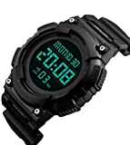 SKMEI Sport Outdoor Men Plastic Strap Countdown Auto Date Military Army LED Wristwatch
