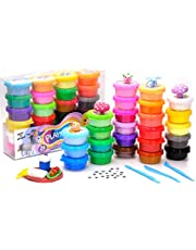 TBC The Best Crafts Model Magic Clay Set, 24 Colors Air Dry Clay, Ultra Light, Non-Toxic, Creative Sensory Toys, Art & Crafts DIY Gift for Kids