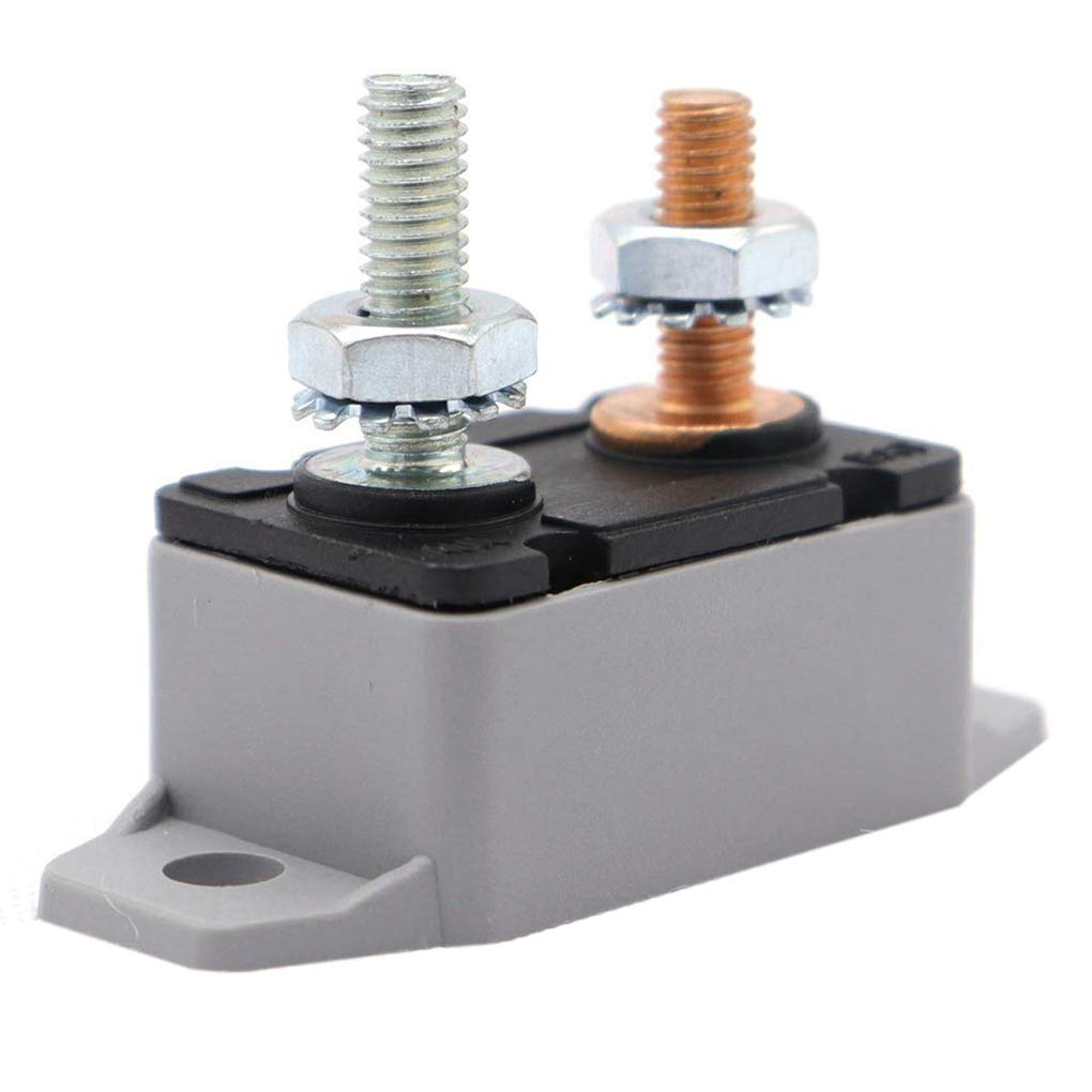 WOVELOT 15A battery protection with fixed wings double-legged with bolt circuit breaker with 1 red nylon cover