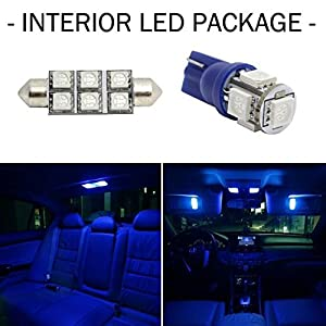 partsam 2004 2014 ford f 150 blue interior led lights package kit automotive. Black Bedroom Furniture Sets. Home Design Ideas