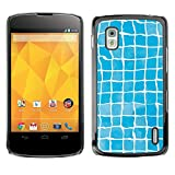 Smartphone Protective Case Slim PC Hard Cover Case for LG Nexus 4 E960 / CECELL Phone case / / Blue Grid Pattern /