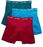 Calvin Klein Men's Underwear Cotton Classics Boxer Briefs (Pack Of 3), Dresden Blue/Sea Green/Amaranth, Medium
