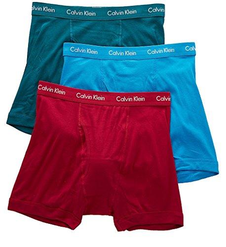da30f2f3d6e Calvin Klein Men s Underwear Cotton Classics Boxer Briefs – Large – Dresden  Blue Sea Green Amaranth (Pack of 3)