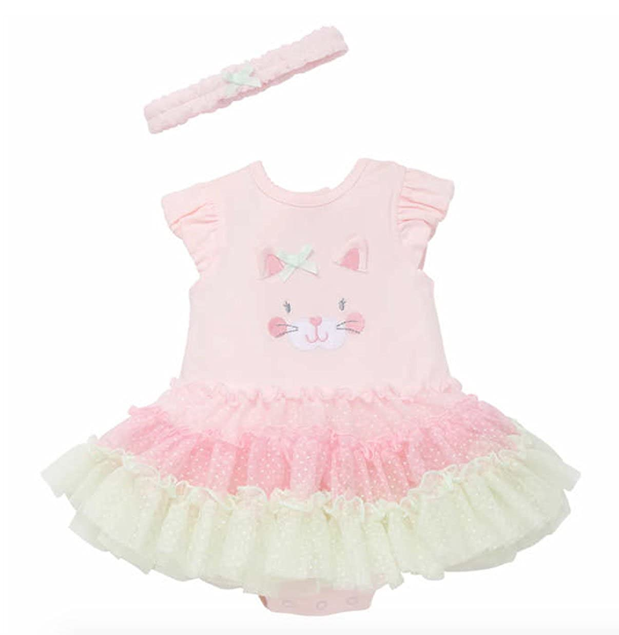 Little Me Tutu Popover Dress with Headband for Baby Girls
