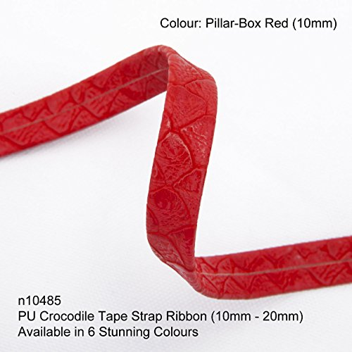 (Neotrim PU Faux Imitation Leather Crocodile Croc Skin Tape Trimming Ribbon Strap, Now in 6 Gorgeous colours, Stunning Texture Finish, Striking Embellishment)