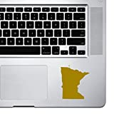 StickAny Palm Series Minnesota MN Sticker for MacBook Pro, Chromebook, and Laptops (White)