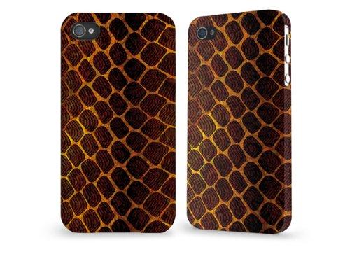 """Hülle / Case / Cover für iPhone 4 und 4s - """"Schlangenleder"""" von caseable"""