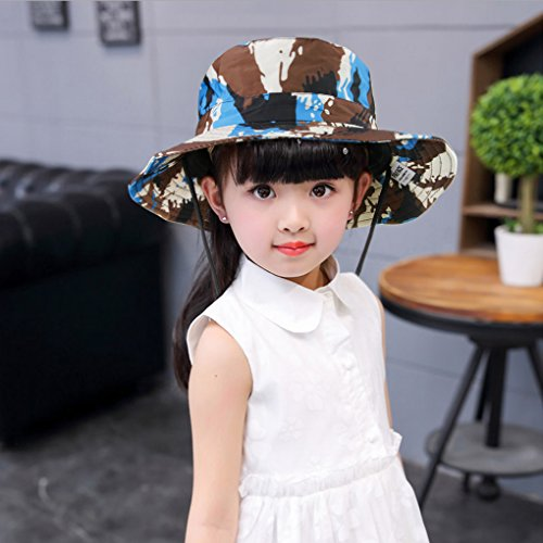 461256099c Amazon.com  Kids Toddler Girls Boys Camo Bucket Hat Anti-UV Sun Protection  Foldable Cotton Boonie Hat Holiday School Picnic Beach Travel Flat Sun Hat  1-4 ...