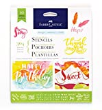 Faber-Castell Mixed Media Paper Stencils - 10 Reusable Graphic Stencils