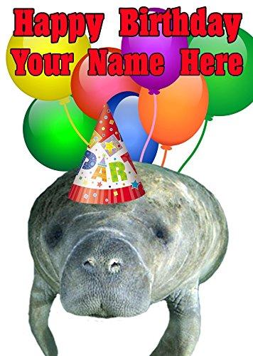 Manatee nnc81 feliz cumpleaños A5 Tarjeta de felicitación ...