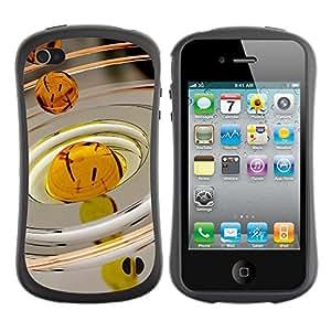 Suave TPU GEL Carcasa Funda Silicona Blando Estuche Caso de protección (para) Apple Iphone 4 / 4S / CECELL Phone case / / Oil Drop Macro /