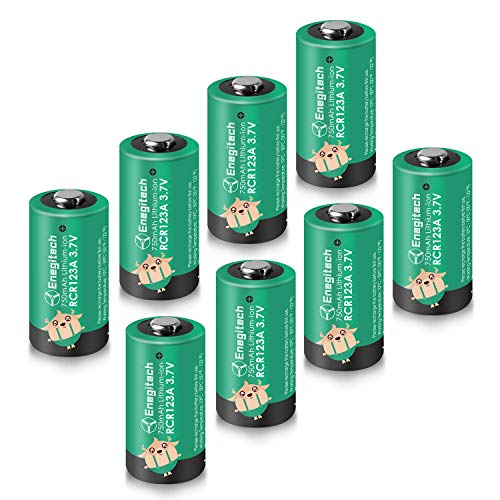 Enegitech Arlo Batteries, CR123A Lithium-ion Battery 750mAh for Reolink Camera Flashlight Arlo Security System VMC3030 VMK3200 VMS3330 3430 3530 8Pack [Upgraded Version]