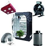 4 inch air cooled reflector - Hongruilite 800w LED Grow Light+36''x20''x63'' Grow Tent+4
