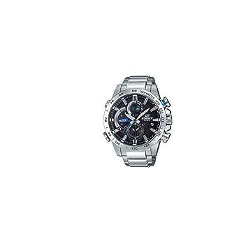 2c9541924f11 CASIO Reloj Cronógrafo para Hombre de Energía Solar con Correa en Acero  Inoxidable EQB-800D-1AER  Amazon.es  Relojes