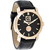 Rockwell Time Cartel Black Leather Strap/ Rose Gold Dial Watch