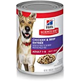 Hill's Science Diet Wet Dog Food, Adult, Chicken & Beef Recipe, 13 oz Cans, 12-pack