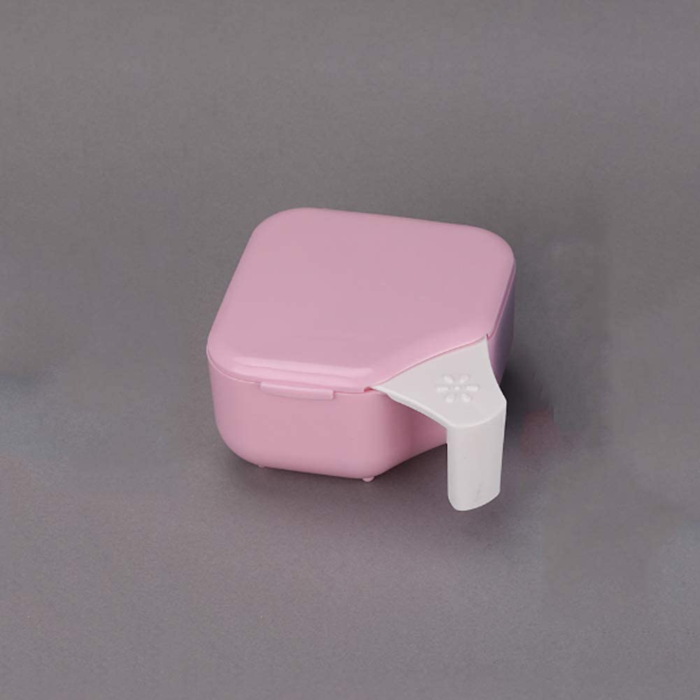 Caso de la dentadura de baño, caja de almacenaje del envase del ...