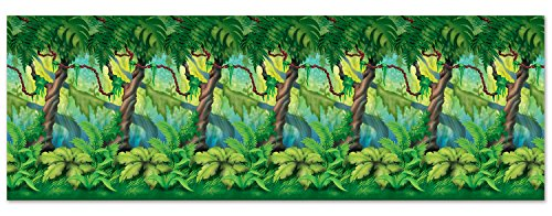 Jungle Trees Backdrop Party Accessory (1 count) (1/Pkg) ()