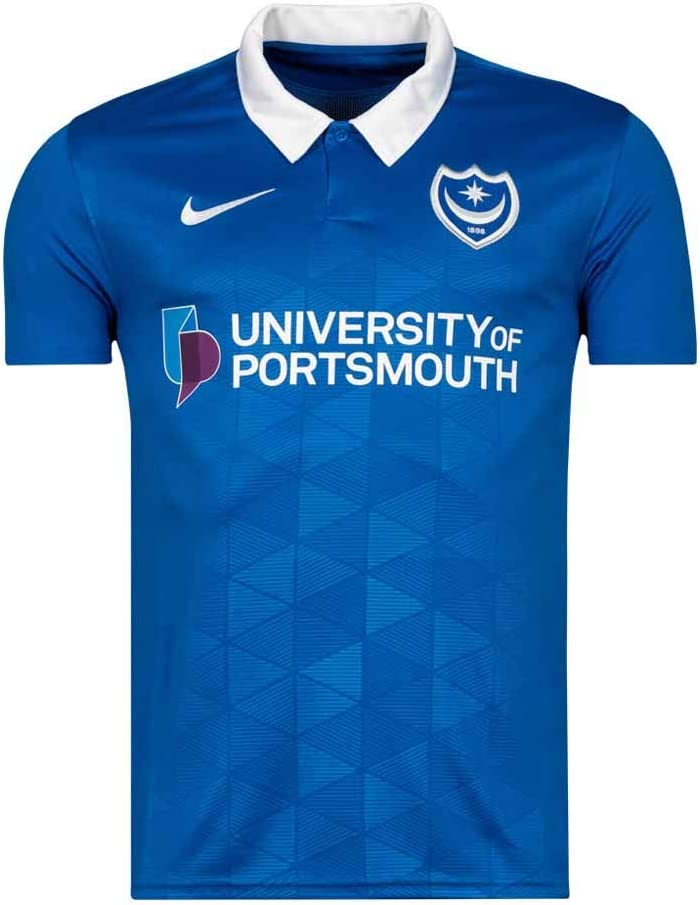 Nike 2020-2021 Portsmouth Home Football Soccer T-Shirt Jersey