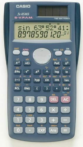 Casio Fx-85ms Scientific Calculator Fx85 2 Line Display Multi Replay 240 Function