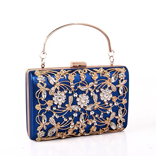 Handbag Bag Blue Women Wedding Clutches Handheld Bag Purse Bags Evening Girls Party wqTBS