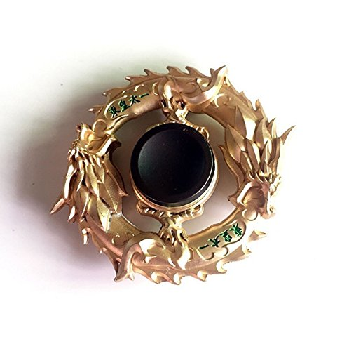 Mtele Fidget Spinner Metal Hand Spinner Edc Adhd Focus Toy Ultra Durable High Speed Anxiety Relief Toy Gold Chinese Dragon